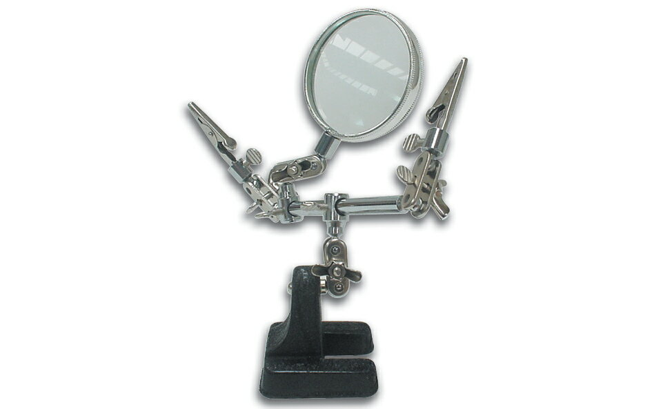 Magnifying glass with clip stand