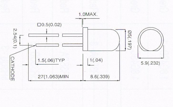 高輝度LED(5φ)/20本5R3UC-2