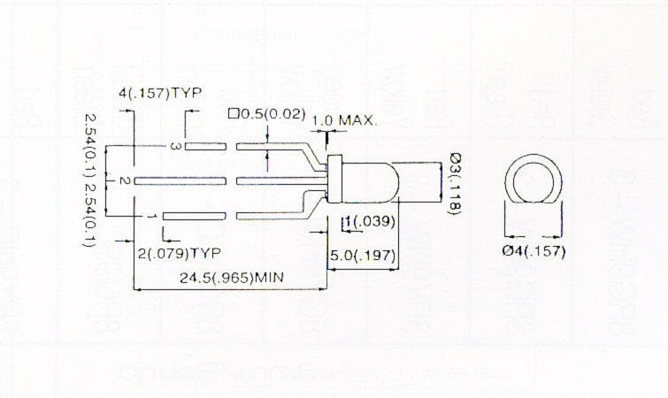 2色拡散タイプLED(3φ)/10本3GY9HW...の商品画像