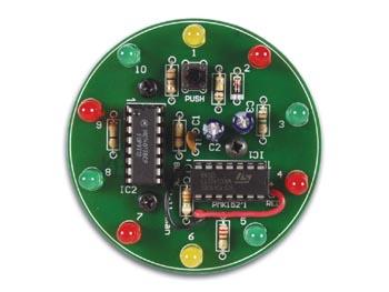 Electronic tool kit (10 LED roulette) MK152