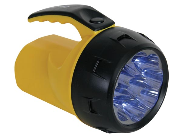 9 LED powered torch