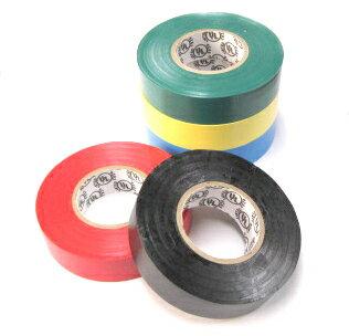 電気絶縁ビニールテープ0.18mmx19mmx20M黒/10本