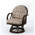 【カード決済OK】今枝商店 Romantic Rattan 籐回転座椅子 S253B