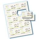 サンワサプライ インクジェットまわりがきれいな名刺カード・標準(アイボリー、A4、10面、100シート1000カード入り) JP-MCC02BG-1