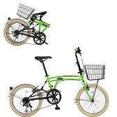 DOPPELGANGER ドッペルギャンガー 20インチ フォールディングバイク Mobility Six(モビリティ シックス) m6GREEN【納期目安:10/中旬入荷予定】