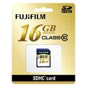 富士フイルム SDHCカード16GB クラス10 (SDHC016GC10) SDHC-016G-C10【納期目安:1週間】