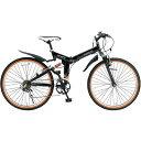 マイパラス 26インチ 折畳ATB自転車 6SP・Wサス ブラック M-670-BK