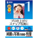 サンワサプライ インクジェット写真印画紙・特厚 JP-EP2NA4