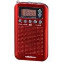 オーム電機 DSP式 ポケットラジオ(レッド) RAD-P350N-R