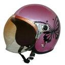 その他 ダムトラックス(DAMMTRAX) ジェットヘルメット NEW チアーバタフライ PINK ds-1426247