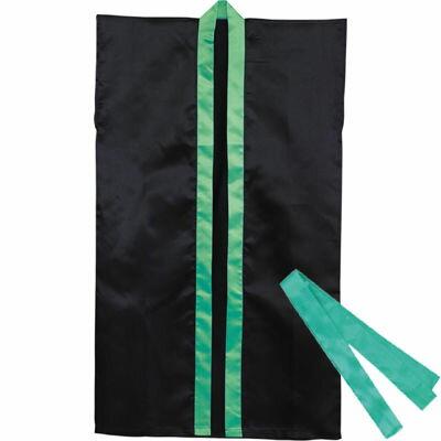 アーテック ロングハッピ不織布 黒(緑襟)J(ハチマキ付) ATC-3262