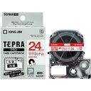 その他 (まとめ) キングジム テプラ PRO テープカートリッジ マグネットテープ 24mm 白/赤文字 SJ24SR 1個 【×3セット】 ds-1581607