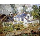 その他 世界の名画シリーズ、プリハード複製画 ヴィンセント・ヴァン・ゴッホ作 「オーヴェールの家々」【代引不可】 ds-1614314