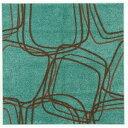 その他 ナイロンラグ/絨毯 【200cm×200cm グリーンブルー】 正方形 日本製 防滑 オールシーズン対応 ホット&クール 『レシェ』【代引不可】 ds-1888946