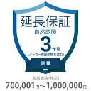 その他 3年間延長保証 自然故障 家電(エアコン・冷蔵庫以外) 700001~1000000円 K3-SK-233127
