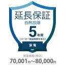 その他 5年間延長保証 自然故障 家電(エアコン・冷蔵庫以外) 70001〜80000円 K5-SK-253118