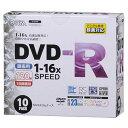 オーム電機 DVD-R録画用 16倍速 10P スリムケース入り PC-M16XDRCP10L