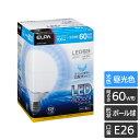 【わけあり】LED電球 G95ボール形 60W形 E26 昼光色 LDG8D-G-G202/省エネ・節電!コンパクトで一般電球と置き換え可能!/ELPA【同時購入注意】