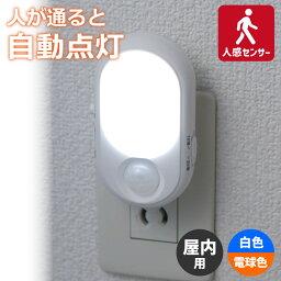 暗闇で人に反応し自動点灯!人感&明暗センサー 高機能LEDナイトライト PM-L240/省エネ・節電!灯りを「ホワイト/アンバー」切替可能なフットライト (足元灯) /ELPA
