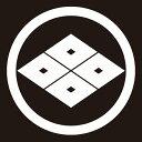 貼り紋 丸に四つ目菱(シールタイプ6枚1組) =着物、羽織、家紋、紋付=