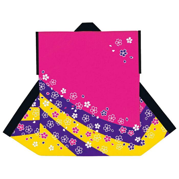 袖無し半纏・半天・袢天・法被・半被 顔料染め (ピンク) 桜柄 =お祭り、太鼓衣装、大祭、祭禮、イベント=