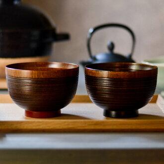 3.6 萬櫻桃葉雙呷了一口富池大朱富池大黑色木碗湯碗漆畫夫婦