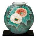 【送料無料】 花瓶 紅白牡丹 10号 / 花器 フラワーベース インテリア 陶器 日本のお土産 九谷焼 【あす楽対応】