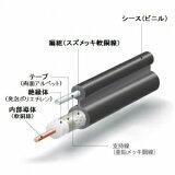 伸興電線 高周波同軸ケーブル 自己支持形 5C-2V 100m巻 5C-2V-SSD100m