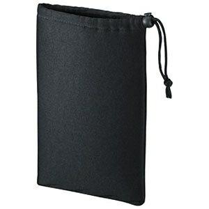 サンワサプライ マルチクッションケース 7インチ対応 巾着タイプ ブラック IN-C2K