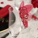 【ポイント10倍】【1枚@200円】グラスカード バラ 10枚セット ネームカード 席札 結婚式 ブライダル ウェディング パーティー 赤 BRIDAL WEDDING ヤマ日商店