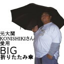 元大関KONISHIKIさん愛用のデカ傘!