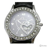 【】期間限定20%OFF!プーさん×スワロフスキー腕時計ハッピークリスタル ブラック【楽ギフ包装】【smtb-TD】【saitama】