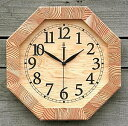 KICORI 木の時計【八角時計】k119【送料無料】インテリア・寝具・収納/時計/置き時計
