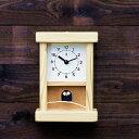 木の時計・KICORI【枝のフクロウ時計】k123【送料無料】かけ置き両用 国産