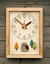 木の時計・【森の電葉時計(フクロウ振子)】【送料無料】【fsp2124】/インテリア・寝具・収納/時計/置き時計