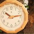 KICORI 【森の電葉時計(12角形)】【送料無料】 インテリア 寝具 収納 時計 置き時計 掛け時計