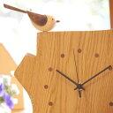 木の時計・【エナガの時計(小)】【送料無料(一部地域を除く)】/インテリア・寝具・収納/時計/置き時計