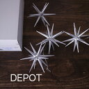 箱入り4ヶセット【銀の星(大)】木製 クリスマス ツリー オーナメント ドイツ エルツ地方(ERZ) アルビンプライスラー 【正規輸入品】