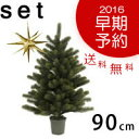 【PLASTIFLOR/RS GLOBAL TRADE 90cmクリスマスツリーと金の星(大)セット】◎2016年早期予約特典・送料無料◎ベツレヘムの星 セット