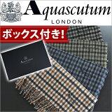 アクアスキュータム Aquascutum[4色展開]チェック柄ふんわり英国の伝統を体感するウール マフラー メンズ ブランド