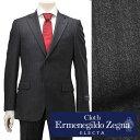 【スーパーSALEはPoint6倍!】エルメネジルド・ゼニア cloth by Ermenegildo Zegna メンズスーツ シングル2つボタン ELECTA エレクタ ウール グレー&ストライプ 秋冬 でらでら 公式