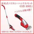 <キンボシ>充電式バリカン・ハンドルセット GSD-100Li (送料無料) (メーカー直送品B:同梱不可) 通販