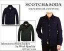 【究極プライス】スコッチ&ソーダ scotch&soda スコッチアンドソーダ メンズSC31110 ウールシャツジャケット シャツ ダウン ジャケット ニット