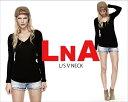 LNAL/S V NECK TEEVネック ロングスリーブ Tシャツ無地Tシャツです♪首元の開き具合や素材が最高ですメール便対応商品