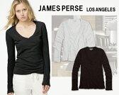 ジェームスパース Tシャツ 長袖james perse L/S RELAXED CASUALロングスリーブ Vネック 無地 Tシャツ レディース
