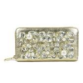 Bijou Wallet(ビジュー ウォレット) ゴールド ビジューパール レディース 財布 ゴールド ビジューパール 長財布