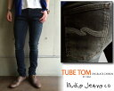 ヌーディージーンズ Nudie Jeans メンズ MENS TUBE TOM #111464 BLACK CARBON【関連キーワード】ボトム デニム スキニー