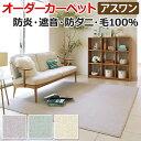 アスクレスタ トレンドのソフトカラー ウールカーペット 三畳 3畳 3帖 約176×261cm オーダーカーペット