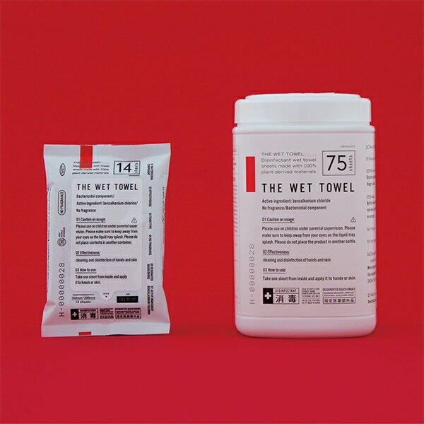 THE WET TOWEL ウェットタオル ポケットタイプ 42枚 消毒ウェット S11B 49ml 17×3P
