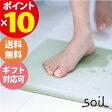 soil Bath Mat ソイル バスマット 厚手ポイント10倍(7/25 14:00~) 珪藻土 速乾 吸水 防菌 お風呂 足拭きマット JIS-B137